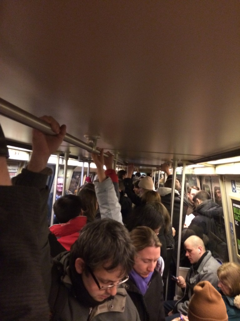 Over crowded a** train