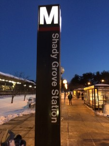Outside of Shady Grove Station
