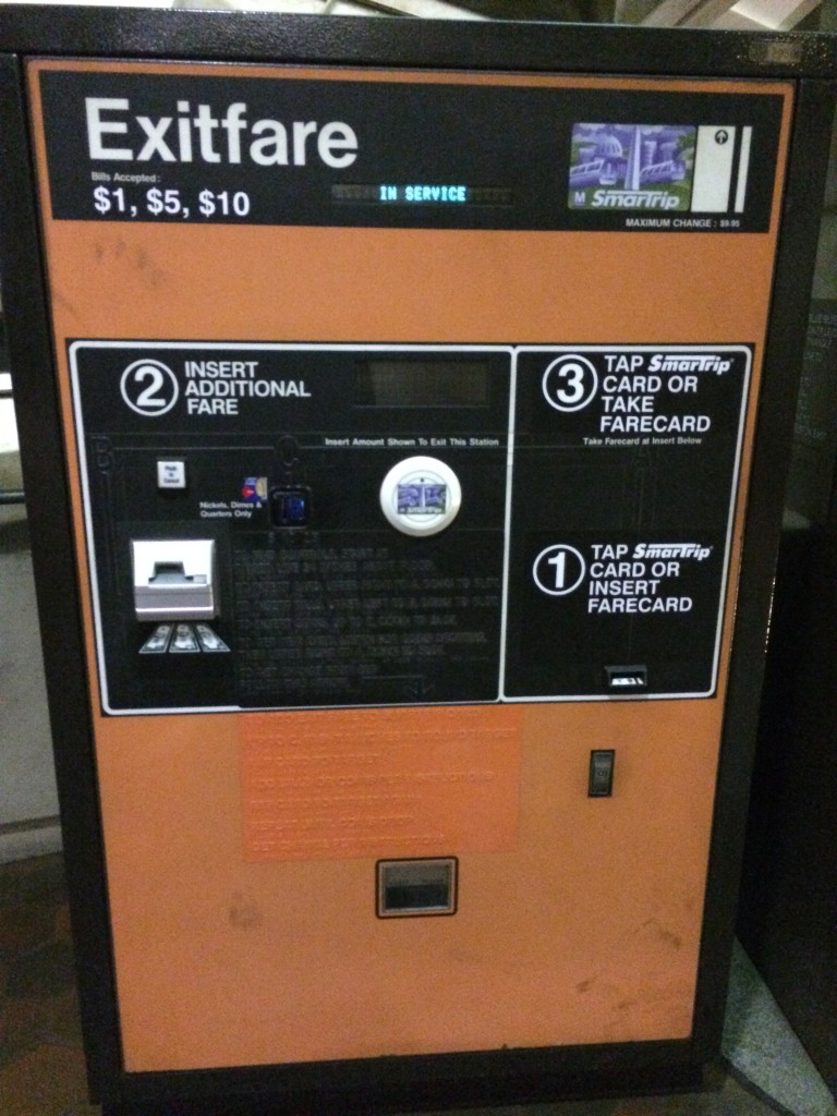 The poor lonely Exit fare box